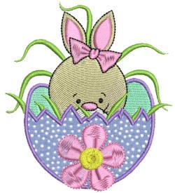 Easter Delight Bunny 2 Applique 4x4