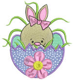 Easter Delight Bunny 2 Applique 4x4 All Formats