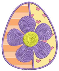 Easter Delight Egg 2 Applique 4x4