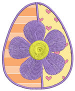 Easter Delight Egg 2 Applique 4x4