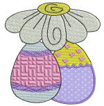 Easter Delight Eggs 1 Applique 4x4