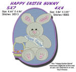 Easter Bunny with Basket 4x4 and 5x7