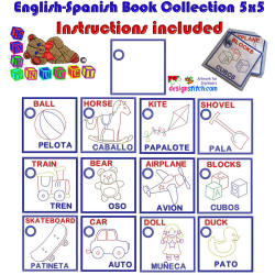 Toys English-Spanish Book