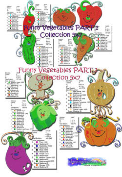 FunnyVegetables Collection5x7