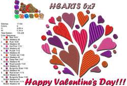 HEARTS 5x7