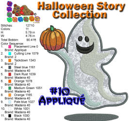 Halloween Story Applique 10 5x7