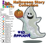 Halloween Story Applique 10 5x7