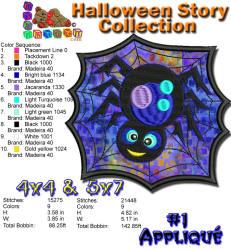 Halloween Story Applique 1 5x7