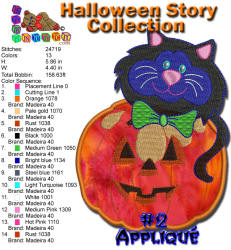Halloween Story Applique 2 5x7