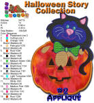 Halloween Story Applique 2 5x7