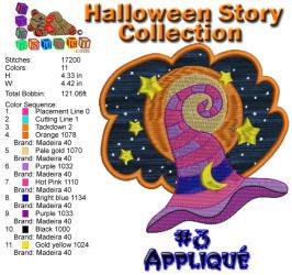 Halloween Story Applique 3 5x7