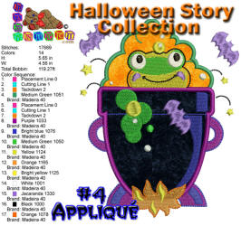 Halloween Story Applique 4 5x7