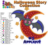 Halloween Story Applique 5 5x7