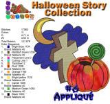 Halloween Story Applique 6 5x7