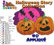 Halloween Story Applique 9 5x7