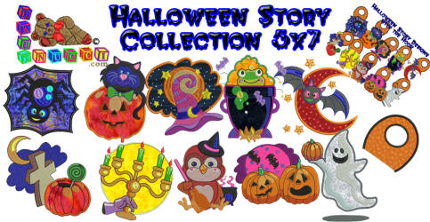 Halloween Story Applique 5x7 Collection