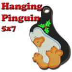 Hanging Pinguin 5x7