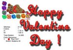 Happy Valentine Day 4x4 EMBROIDERY DESIGN