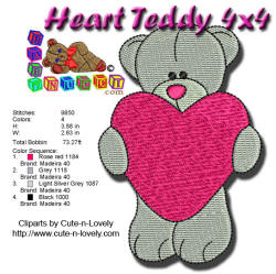 Heart Teddy 4x4