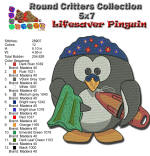 Lifesaver Pinguin 5x7