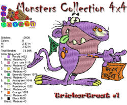 Monster Collection 4x4 Trick or Treat 1