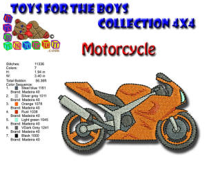 Toys for the Boys Motorcycle 4x4