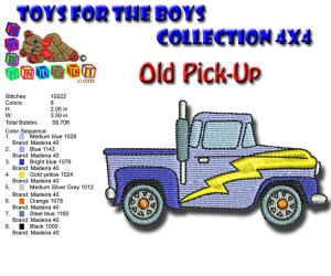 Toys for the Boys Old Pickup 4x4