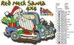 Red Neck Santa 4x4