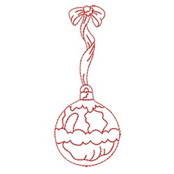 Redwork Christmas Ornament 03