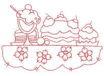 Redwork Tablecloths 3 4x4