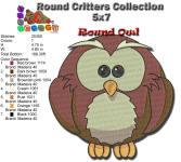 Round Owl 5x7