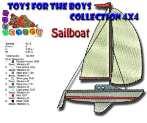 Toys for the Boys Sailboat 4x4