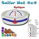 Sailor hat Beah Collection 4x4c