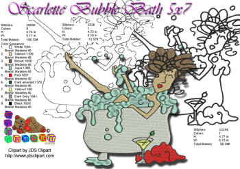 Scarlette Bubble Bath 5x7