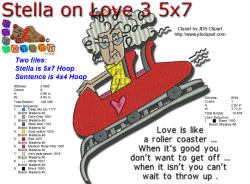 Stella on Love Roller Coaster 5x7