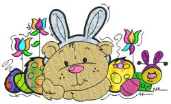 Theodore easter Applique 5x7